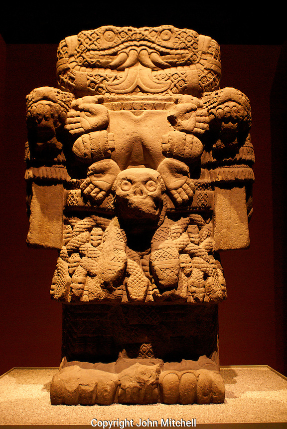Statue of Coatlicue, the ancient Aztec earth goddess. Museo Nacional de Antropologia, Chapultepec Park, Mexico City.