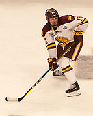 Joey Anderson (UMD - 13) - The University of Minnesota Duluth Bulldogs defeated the Harvard University Crimson 2-1 in their Frozen Four semi-final on April 6, 2017, at the United Center in Chicago, Illinois.