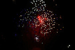 Fireworks light up the night sky.