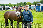 James Black with his horse called Mysterious Woman enjoying the  Castleisland races in Powells road Castleisland on Saturday