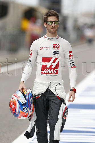 01.04.2016. Bahrain. FIA Formula One World Championship 2016, Grand Prix of Bahrain, Practise day.  8 Romain Grosjean (FRA, Haas F1 Team)