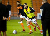 Steve Davies warms up ahead of the match<br /> <br /> Photographer Alex Dodd/CameraSport<br /> <br /> The EFL Checkatrade Trophy Northern Group C - Blackpool v West Bromwich Albion U21 - Tuesday 9th October 2018 - Bloomfield Road - Blackpool<br />  <br /> World Copyright &copy; 2018 CameraSport. All rights reserved. 43 Linden Ave. Countesthorpe. Leicester. England. LE8 5PG - Tel: +44 (0) 116 277 4147 - admin@camerasport.com - www.camerasport.com