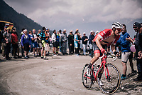 Boy Van Poppel (NED/Trek Segafredo) up the gravel roads of the Colle delle Finestre <br /> <br /> stage 19: Venaria Reale - Bardonecchia (184km)<br /> 101th Giro d'Italia 2018