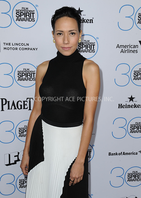 WWW.ACEPIXS.COM<br /> <br /> January 10 2015, LA<br /> <br /> Andrea Suarez Paz attending the 2015 Film Independent Filmmaker Grant and Spirit Awards nominee brunch at the BOA Steakhouse on January 10, 2015 in West Hollywood, California.<br /> <br /> By Line: Peter West/ACE Pictures<br /> <br /> <br /> ACE Pictures, Inc.<br /> tel: 646 769 0430<br /> Email: info@acepixs.com<br /> www.acepixs.com