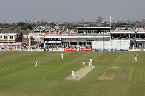 16 July 2005: General view of the Grace Road ground and pavilion during a 3 day tour match between Leicestershire and Australia played at Grace Road, Leicester. The game finished in a draw. Photo: Neil Tingle/Actionplus...050716 cricket venue stadium ground