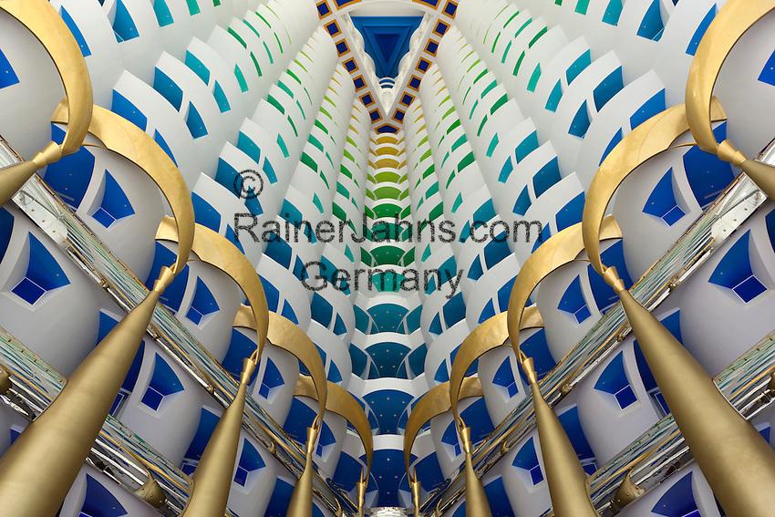 United Arab Emirates, Dubai: Burj Al Arab Atrium | Vereinigte Arabische Emirate, Dubai: Burj Al Arab, Innenhof, Atrium