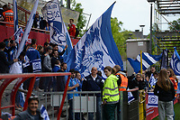 20170513 - MECHELEN , BELGIUM : Gent's fans and supporters pictured during the final of Belgian cup 2017 , a womensoccer game between RSC Anderlecht and KAA Gent Ladies , in the AFAS stadion in Mechelen , saturday 13 th May 2017 . PHOTO SPORTPIX.BE | BELGA |  DAVID CATRY