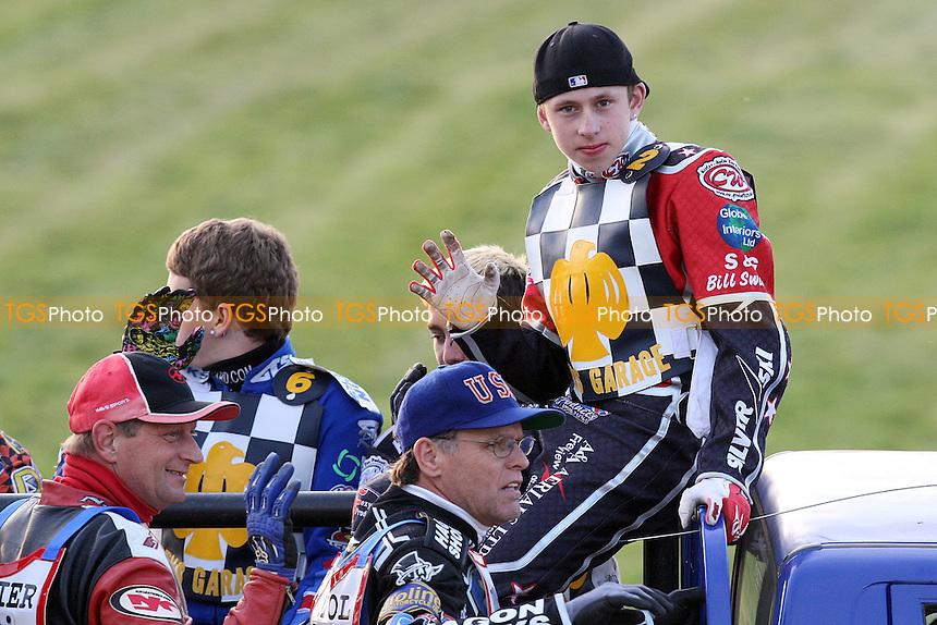 Ben Morley of Hackney Hawks - Hackney Hawks vs Team America - Speedway Challenge Meeting at Rye House - 09/04/11 - MANDATORY CREDIT: Gavin Ellis/TGSPHOTO - Self billing applies where appropriate - Tel: 0845 094 6026