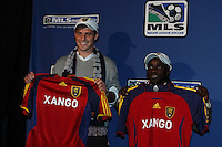 Real Salt Lake's David Horst (14th overall), and Alex Nimo (17th overall) during the MLS SuperDraft at the Baltimore Convention Center in Baltimore, MD, on January 18, 2008.