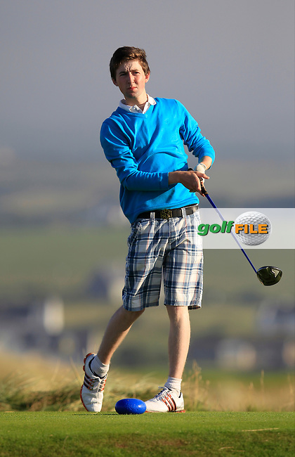 John Conroy (Bray) on the 2nd tee during the South of Ireland Amateur Open Championship First Round at Lahinch Golf Club  27th July 2013 <br /> Picture:  Thos Caffrey / www.golffile.ie