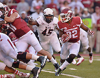 STAFF PHOTO BEN GOFF  @NWABenGoff -- 09/20/14 <br /> Arkansas running back Jonathan Williams carries the ball during the first quarter of the game against Northern Illinois in Reynolds Razorback Stadium in Fayetteville on Saturday September 20, 2014.