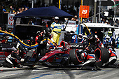 2017 Verizon IndyCar Series<br /> Toyota Grand Prix of Long Beach<br /> Streets of Long Beach, CA USA<br /> Sunday 9 April 2017<br /> Mikhail Aleshin, pit stop<br /> World Copyright: Michael L. Levitt<br /> LAT Images