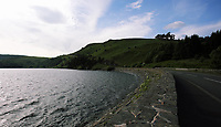 COPY BY TOM BEDFORD<br />Pictured: General view of Clywedog reservoir as seen from Bwlch-Y-Gle dam.<br />Re: A toilet is offered for sale by auctioneers Paul Fosh next to Clywedog Reservoir near Llanidloes, mid Wales, UK.