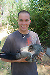 Chris Tilton Holding Mountain Brushtrail Possum
