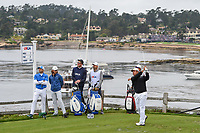 Hideki Matsuyama (JPN) watches his tee shot on 7 during round 2 of the 2019 US Open, Pebble Beach Golf Links, Monterrey, California, USA. 6/14/2019.<br /> Picture: Golffile | Ken Murray<br /> <br /> All photo usage must carry mandatory copyright credit (© Golffile | Ken Murray)