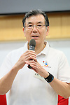 Shigekazu Tomioka (JPN), <br /> JULY 22, 2016 - Table Tennis : <br /> Japan national team Send-off Party <br /> for Rio Olympic Games 2016 &amp; Paralympic Games <br /> at Ajinomoto National Training Center, Tokyo, Japan. <br /> (Photo by YUTAKA/AFLO SPORT)