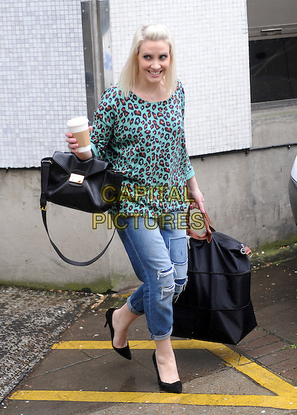LONDON, ENGLAND - APRIL 07: Claire Richards at ITV Studios on April 7th, 2014 in London, England.<br /> CAP/AOU<br /> &copy;AOU/Capital Pictures