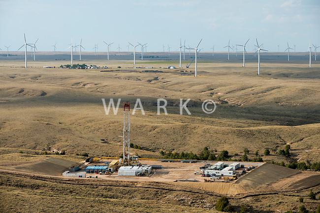 Fracking drilling rig.  Northern Colorado. Sept 2012