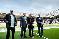 Former Swansea city Legends  ahead of the  Premier League match between Swansea City and Everton played at the Liberty Stadium, Swansea  on September 19th 2015