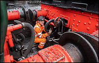 BNPS.co.uk (01202)558833<br /> Pic: PhilYeomans/BNPS<br /> <br /> Hands on experience - Young Locomotive fireman Will Armston-Sheret<br /> <br /> Growth Industry - Britain's enduring love affair with steam trains has led to a critical shortage of drivers, 56 years after the infamous Beeching Axe was supposed to have fallen.<br /> <br /> More steam train's are running today than at anytime since Dr Beechings drastic cut in 1963 - with over 150 steam heritage railways and museums attracting 13 million visitors a year.<br /> <br /> One of the most popular heritage railways in the country has put out an SOS for steam drivers - as so many of its stalwarts are retiring.<br /> <br /> Swanage Railway in Dorset has 42 steam drivers on their books, but the majority are in their 60s or older and likely to step down in the coming years.<br /> <br /> They need to train up to 40 drivers over the next five years to replace them and meet their expanding service, which attracts over 200,000 visitors each year.<br /> <br /> To fill the void, a group of enthuisastic young volunteers are being taught the skill, a process which can take up to a decade.<br /> <br /> The Heritage Railway Association, which oversees them, says some of their railways have a 'more pressing need for new blood'.