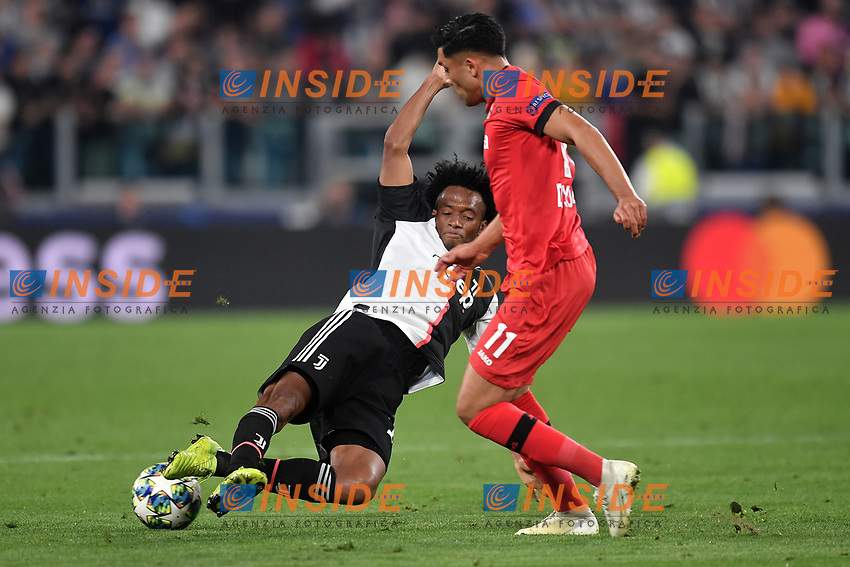 Juan Cuadrado of Juventus , Nadiem Amiri of Leverkusen <br /> Torino 01/10/2019 Juventus Stadium <br /> Football Champions League 2019//2020 <br /> Group Stage Group D <br /> Juventus - Leverkusen <br /> Photo Andrea Staccioli / Insidefoto