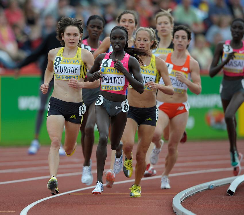 Photo: Ady Kerry/Richard Lane Photography..Aviva British Grand Prix. 31/08/2009. .Vivian Cheruiyot leads round the 3000m