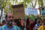El sexo sucio y el planeta limpio  - dirty sex and clean planet! SkolClimate Strike, Fridays for the Future, September 28, 2019. 20,000 people took to the streets, joining more than 7 million worldwide calling for climate action.  At <br /> Jardins de Salvador Espriu<br /> , Gracia, and Diagonal, Barcelona