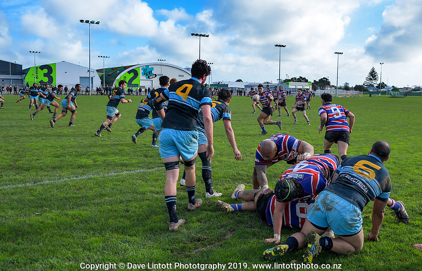Action from the 2019 Manawatu club rugby Val Holland Memorial Trophy final match between Feilding Old Boys Oroua and Kia Toa at CET Arena in Palmerston North, New Zealand on Saturday, 13 July 2019. Photo: Dave Lintott / lintottphoto.co.nz