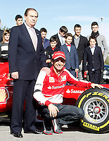 The test driver for Ferrari Pedro de la Rosa and Carlos Gracia, President of the Royal Spanish Automobile Federation (l) during the gala Santander  Karting Champions 2012..(Alterphotos/Acero) NortePhoto