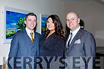 Enjoying the Brides of Kerry Wedding Industry Awards in the Ballyroe Heights Hotel on Sunday evening last. L to r: Johnathan Collins, Emma McElligott and Ray Stack.