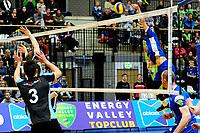 GRONINGEN - Volleybal, Lycurgus - TT Papendal, Alfa College, Eredivisie,  seizoen 2018-2019, 31-01-2019,  Lycurgus speler Frits van Gestel smash