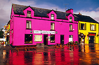 Colorful houses, Sneem, Ring of Kerry, County Kerry, Ireland