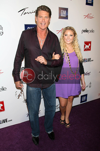 David Hasselhoff and Hayley Hasselhoff<br />