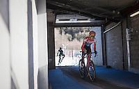 Christine Majerus (LUX/Boels-Dolmans) leading the race<br /> <br /> 2016 CX Superprestige Spa-Francorchamps (BEL)