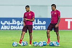Guangzhou Midfielder Paulinho Maciel (R) and Guangzhou Forward Alan Douglas De Carvalho (R) on their warming up session during the AFC Champions League 2017 Round of 16 match between Guangzhou Evergrande FC (CHN) vs Kashima Antlers (JPN) at the Tianhe Stadium on 23 May 2017 in Guangzhou, China. (Photo by Power Sport Images/Getty Images)