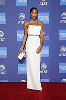 PALM SPRINGS, CA - JANUARY 3: Laura Harrier, at the 2019 Palm Springs International Film Festival Awards Gala at the Palm Springs Convention Center in Palm Springs, California on January 3, 2019.       <br /> CAP/MPI/FS<br /> &copy;FS/MPI/Capital Pictures
