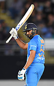 8th February 2019, Eden Park, Auckland, New Zealand;  India's Rohit Sharma 50 not out. New Zealand v India in the Twenty20 International cricket, 2nd T20.