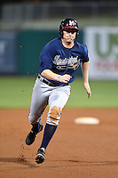 Mississippi Braves outfielder David Rohm (24) runs the bases during a game against the Montgomery Biscuits on April 21, 2014 at Riverwalk Stadium in Montgomery, Alabama.  Montgomery defeated Mississippi 6-2.  (Mike Janes/Four Seam Images)
