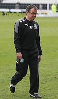 Pat Fenlon after the St Mirren v Hibernian Clydesdale Bank Scottish Premier League match played at St Mirren Park, Paisley on 29.4.12.
