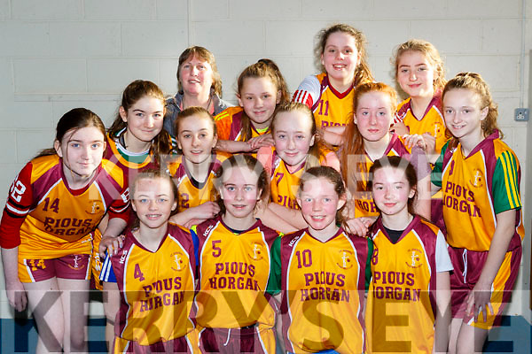 The St Josephs team that played St Annes  in the u14 girls cup final in Killarney on Sunday