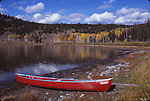 Red Coleman canoe at Two Ocean Lake
