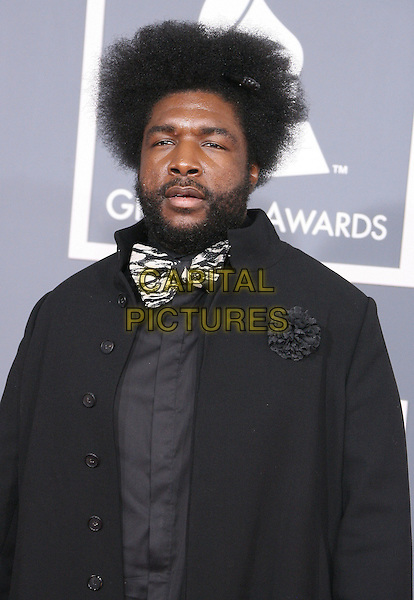 Questlove (Ahmir Khalib Thompson).The 54th Annual GRAMMY Awards held at the Staples Center, Los Angeles, California, USA..February 12th, 2012.half length suit black bow tie grey gray beard facial hair .CAP/ADM.©AdMedia/Capital Pictures.