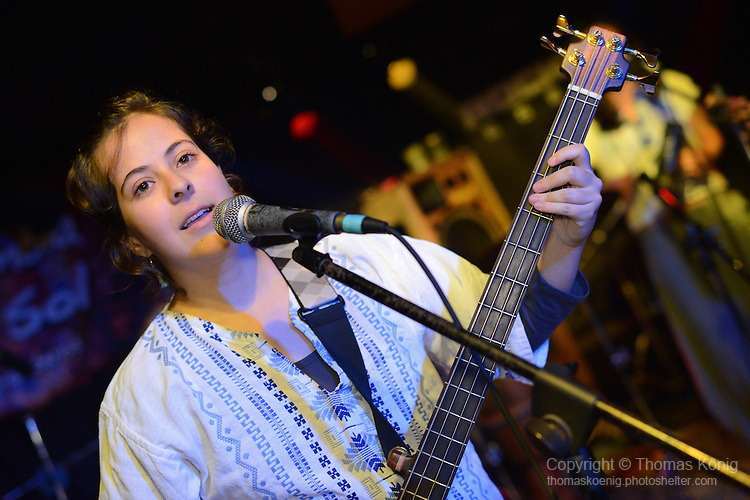 Rocks, Kaohsiung -- Carol Avila of LA CUMBIA DEL SOL live on stage.
