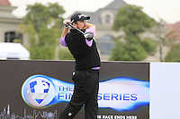 Shane Lowry (IRL) tees off the 1st tee during Wednesday's Pro-Am Day of the 2014 BMW Masters held at Lake Malaren, Shanghai, China 29th October 2014.<br /> Picture: Eoin Clarke www.golffile.ie
