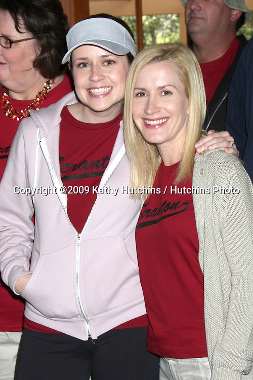 """Jenna Fischer & Angela Kinsey  - 100th Episode of """"The Office""""  On Location at Calamigos Ranch in Malibu , CA on April 14, 2009.©2009 Kathy Hutchins / Hutchins Photo....                ."""