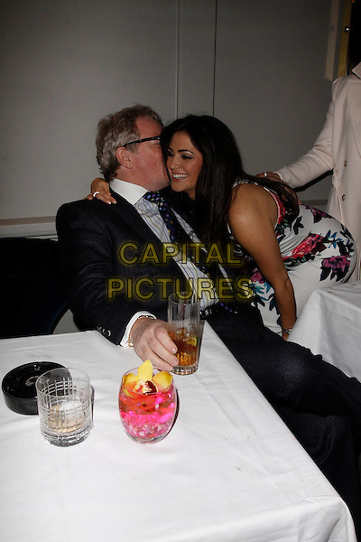 LONDON, ENGLAND - APRIL 28 : Jim Davidson and Casey Batchelor attends the Hot Gossip - launch party at Gigi's on April 28, 2015 in London, England.<br /> CAP/AH<br /> &copy;Adam Houghton/Capital Pictures
