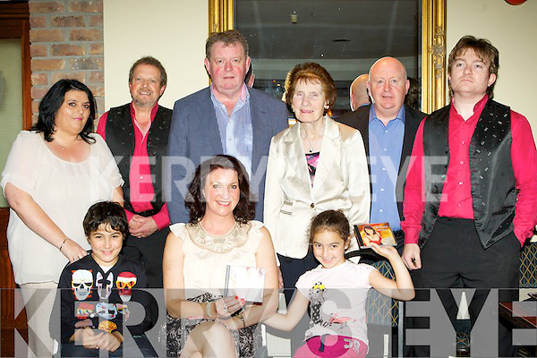 Singer Eileen Hickey who launched her new album 'You Beat All I've Ever Seen', in Darby O'Gill's hotel on Friday night front row l-r: Salim, Eileen and Maryam Hickey. Back row: Alannah Dennehy,  Gary Brassil, Denis Lordan, Michael Dennehy, Delia Hickey and Derek Beale....