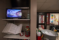 NWA Democrat-Gazette/BEN GOFF @NWABENGOFF<br /> A monitor shows a feed from the front door security camera Friday, March 9, 2018, in the main office at Lowell Elementary.
