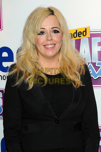Roisin Conaty.Loaded Laftas at the Cuckoo Club, Piccadilly, London, England..February 8th, 2012.half length black dress  .CAP/CJ.©Chris Joseph/Capital Pictures.