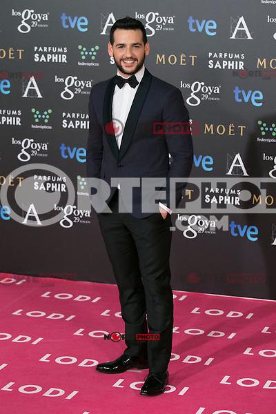 Fran Perea attend the 2015 Goya Awards at Auditorium Hotel, Madrid,  Spain. February 07, 2015.(ALTERPHOTOS/)Carlos Dafonte) /NORTEphoto.com